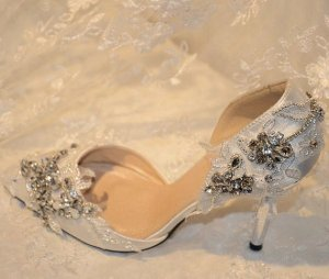 Handmade bridal shoes