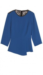 Arden-Crepe-w-Chantilly-Lace-Tibi-Quarter-Sleeve-Top-Blue-Multi-THO14ARC73385